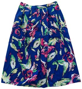 Shoshanna Skirt Blue Pink Multicolor