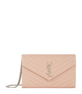 Saint Laurent Chain Chain Wallet Monogram Envelope Monogram Chain Quilted Wallet Cross Body Bag