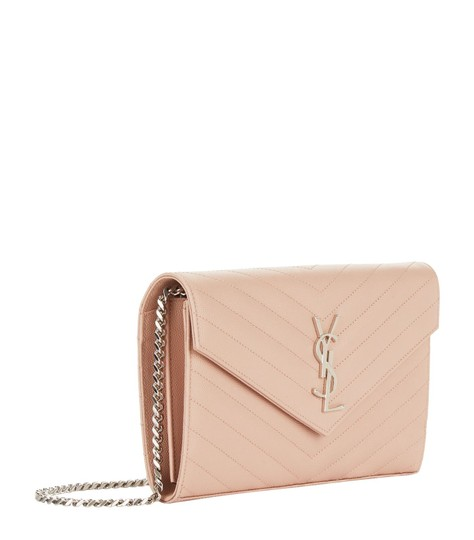 Saint Laurent Chain Chain Wallet Monogram Envelope Monogram Chain Quilted Wallet Cross Body Bag Image 2