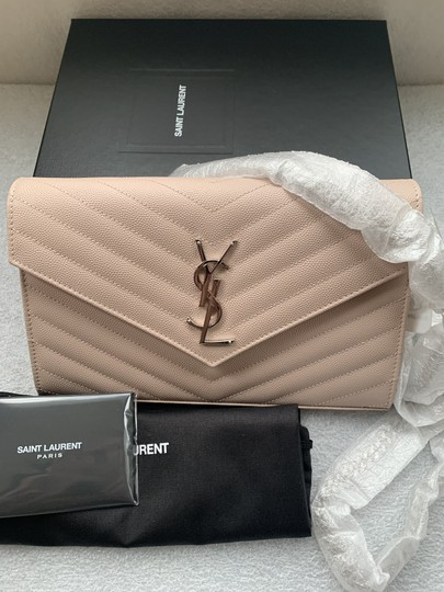 Saint Laurent Chain Chain Wallet Monogram Envelope Monogram Chain Quilted Wallet Cross Body Bag Image 4