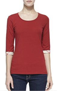 Burberry T Shirt Red