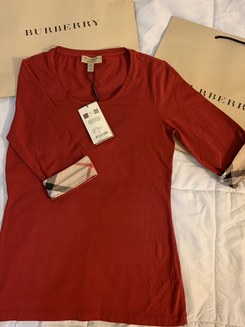 Burberry T Shirt Red Image 3