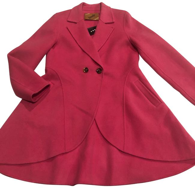 Preload https://img-static.tradesy.com/item/26408910/rose-pink-wool-double-breasted-skirted-coatnwt-coat-size-12-l-0-1-650-650.jpg