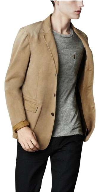 Item - Brown/Malt Brit Men's Westcombe Cotton Casual Jacket; Large Blazer Size 12 (L)