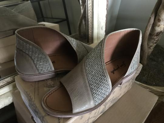 Free People Mont Blanc Leather Taupe/Tan Flats Image 2