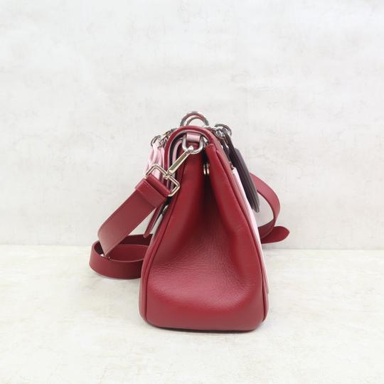 DIOR Be Double Leather Satchel in Deep Red Image 4