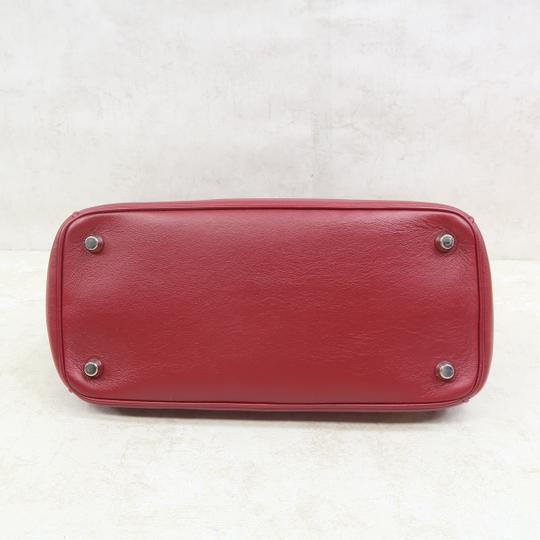 DIOR Be Double Leather Satchel in Deep Red Image 5