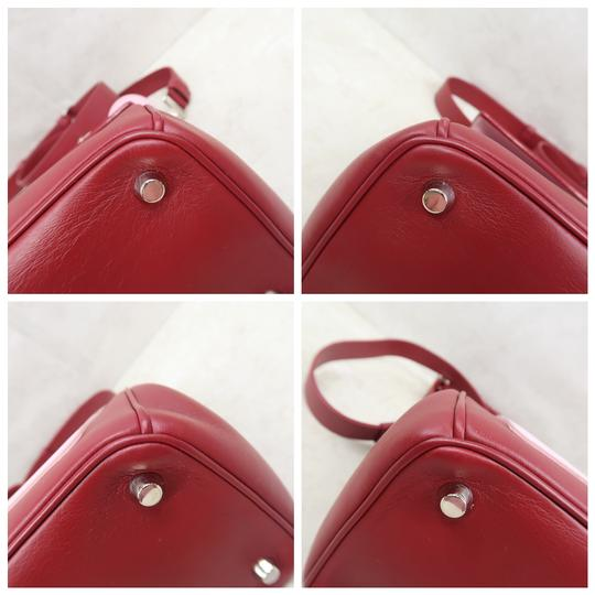 DIOR Be Double Leather Satchel in Deep Red Image 6