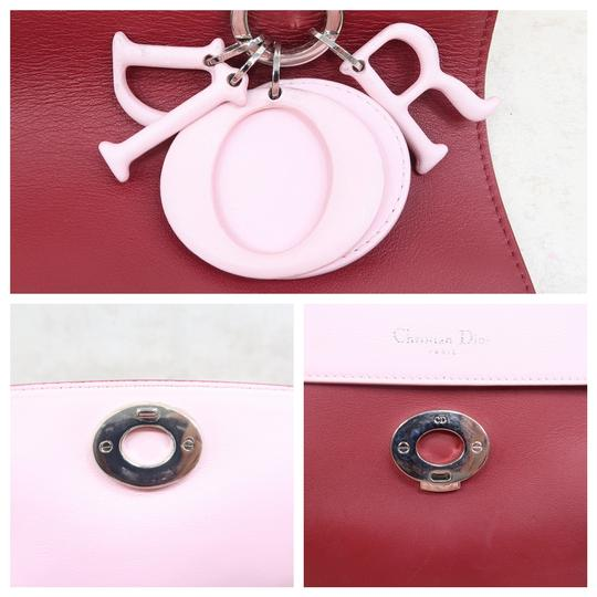 DIOR Be Double Leather Satchel in Deep Red Image 8