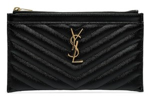 Saint Laurent Monogram Matelasse Chevron Quilted Leather Wallet - item med img