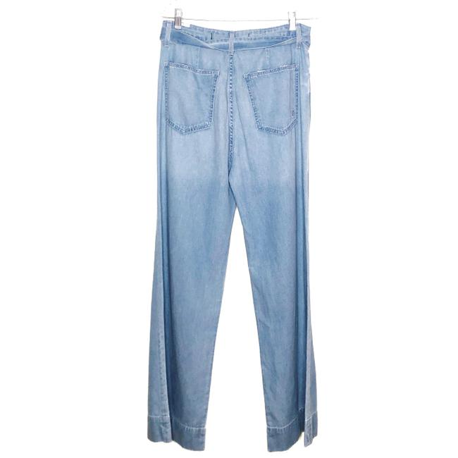 Lovers + Friends Belted Distressed Trouser/Wide Leg Jeans-Light Wash Image 3