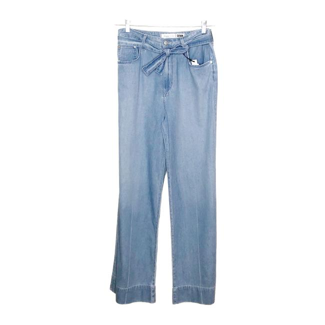 Lovers + Friends Belted Distressed Trouser/Wide Leg Jeans-Light Wash Image 4