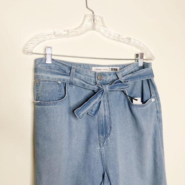 Lovers + Friends Belted Distressed Trouser/Wide Leg Jeans-Light Wash Image 5
