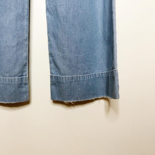 Lovers + Friends Belted Distressed Trouser/Wide Leg Jeans-Light Wash Image 6