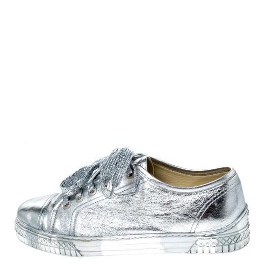 Chanel Metallic Leather Silver Athletic Image 1
