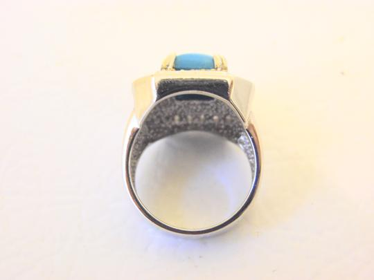 Other Technibond Diamond-Cut Bangle and Created Turquoise Ring Set Image 5
