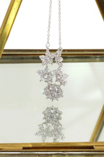 Ocean Fashion Silver mini crystal flowers clavicle necklace Image 2