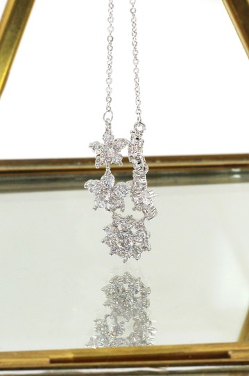 Ocean Fashion Silver mini crystal flowers clavicle necklace Image 3