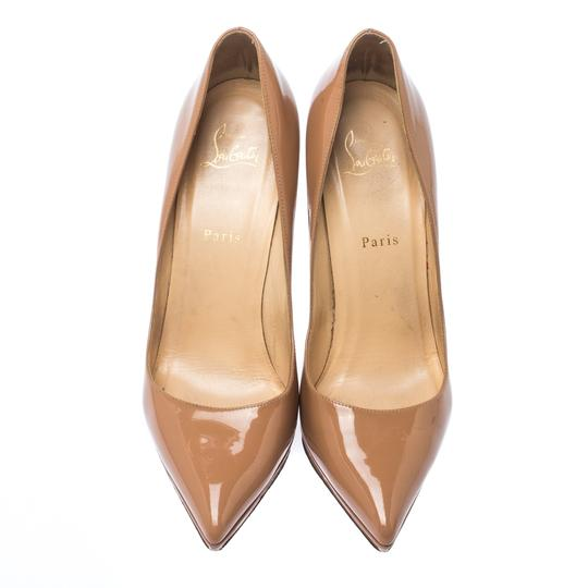 Christian Louboutin Patent Leather Platform Beige Pumps Image 2