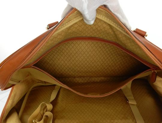 Gucci Suitcase Luggage Italy Vintage Brown Travel Bag Image 10
