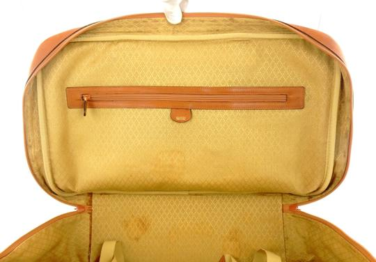 Gucci Suitcase Luggage Italy Vintage Brown Travel Bag Image 8