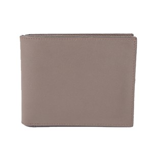Hermes Auth Hermes Folded Wallet Citizen Twill Silk-In T Stamp Leather Greige