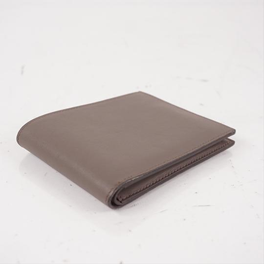 Hermes Auth Hermes Folded Wallet Citizen Twill Silk-In T Stamp Leather Greige Image 1