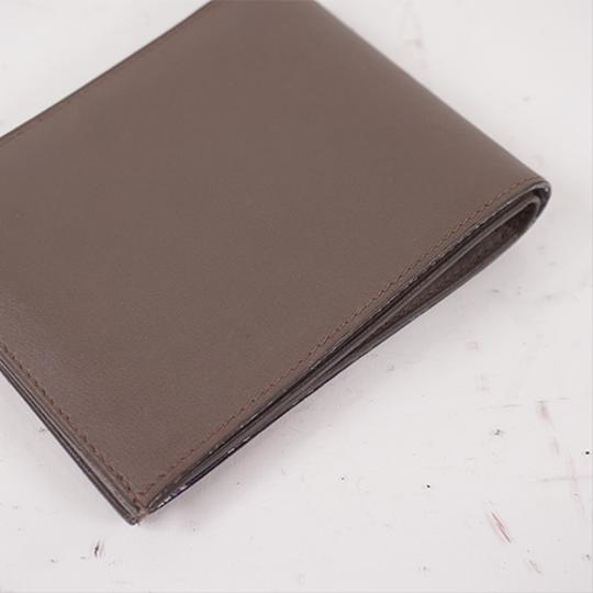 Hermes Auth Hermes Folded Wallet Citizen Twill Silk-In T Stamp Leather Greige Image 5