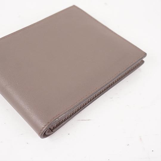 Hermes Auth Hermes Folded Wallet Citizen Twill Silk-In T Stamp Leather Greige Image 6