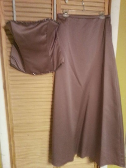 Alfred Angelo Raisin Satin 6823 Formal Bridesmaid/Mob Dress Size 12 (L)