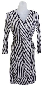 Diane von Furstenberg short dress Herringbone Midnight on Tradesy