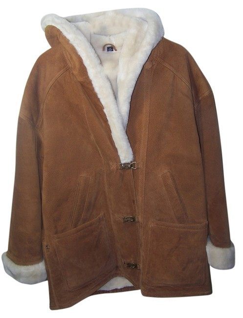 Preload https://img-static.tradesy.com/item/2641042/gallery-light-brown-hooded-coat-leather-jacket-size-4-s-0-0-650-650.jpg