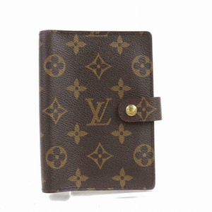 Louis Vuitton Passport School Id Cards Cash Purse Notebook Travel Work Speedy Lockit Gift Padlock Calendar brown/tan/gold Clutch