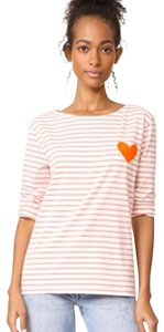 Chinti and Parker T Shirt pink and white stripe