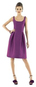 Alfred Sung Cocktail Length Mikado Fabric Sleeveless Dress