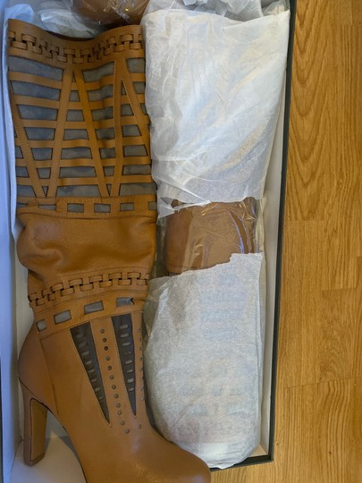 7 For All Mankind cognac brown Boots Image 3