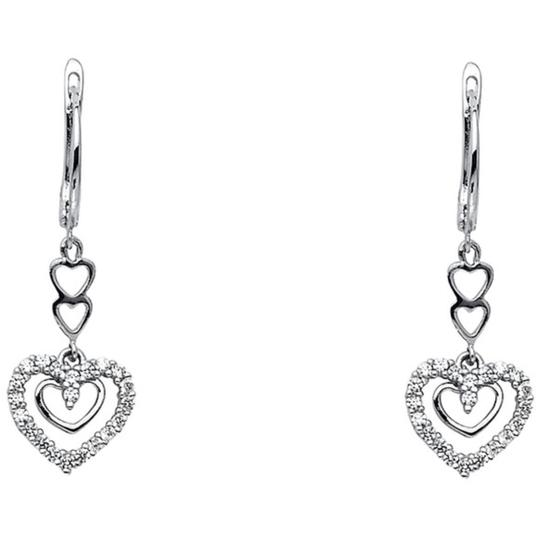 Preload https://img-static.tradesy.com/item/26411707/14k-white-gold-hoop-dangling-heart-cz-earrings-0-0-540-540.jpg