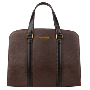 Burberry Checkered Vintage Classic Tote in Brown