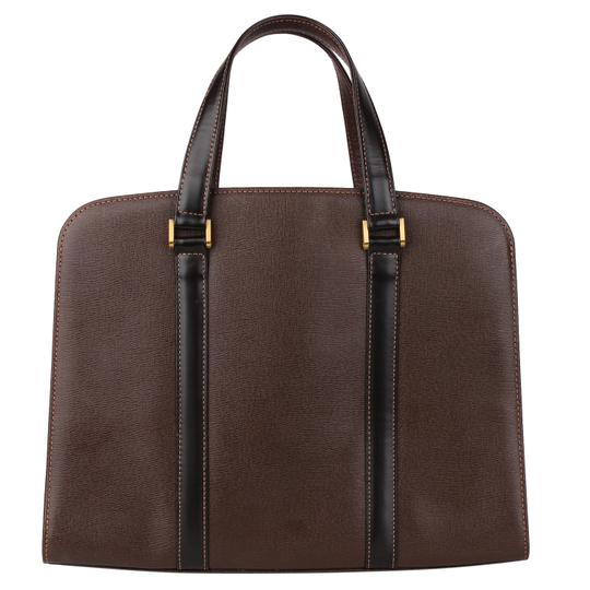 Burberry Checkered Vintage Classic Tote in Brown Image 1