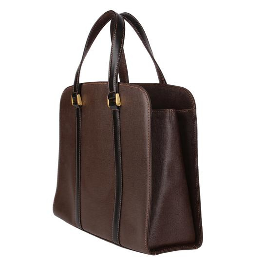 Burberry Checkered Vintage Classic Tote in Brown Image 3