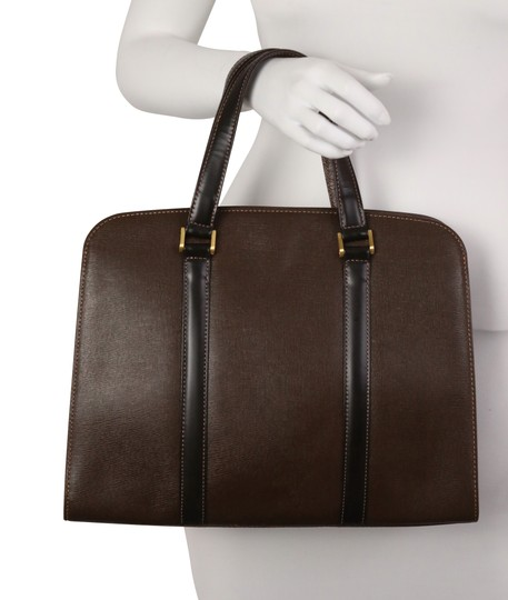 Burberry Checkered Vintage Classic Tote in Brown Image 4