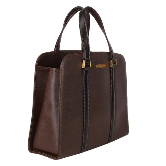 Burberry Checkered Vintage Classic Tote in Brown Image 5