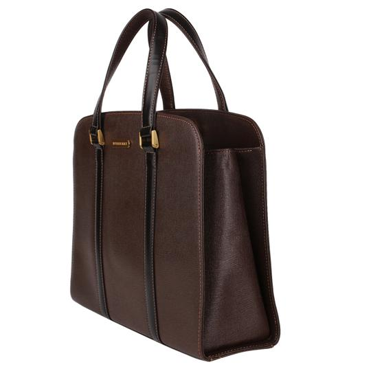 Burberry Checkered Vintage Classic Tote in Brown Image 6