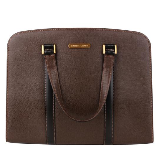 Burberry Checkered Vintage Classic Tote in Brown Image 7