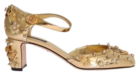 Preload https://img-static.tradesy.com/item/26411824/dolce-and-gabbana-gold-d3443-1-women-s-leather-crystal-fairy-tale-pumps-size-us-55-regular-m-b-0-1-540-540.jpg