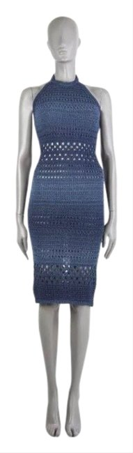 Preload https://img-static.tradesy.com/item/26411827/balmain-navy-crochet-halter-mid-length-cocktail-dress-size-4-s-0-1-650-650.jpg