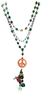 Kinley Sterling Silver Peace Wrap Turquoise Necklace