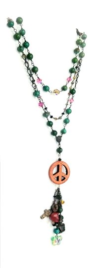 Kinley Sterling Silver Peace Wrap Turquoise Necklace Image 2