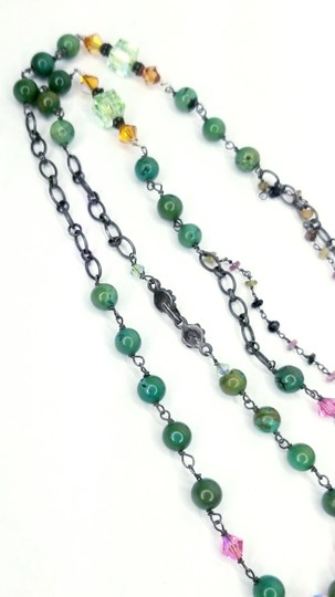 Kinley Sterling Silver Peace Wrap Turquoise Necklace Image 6