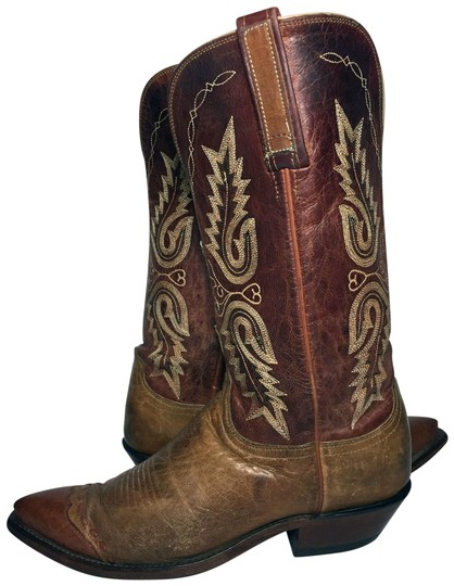 Preload https://img-static.tradesy.com/item/26411872/lucchese-brown-1883-exotic-lizard-leather-cowgirl-women-b-bootsbooties-size-us-9-regular-m-b-0-1-540-540.jpg